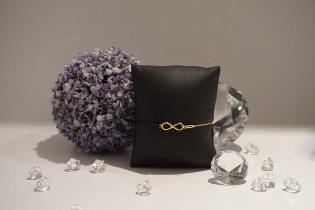 Armkette-Armband Kombi Infinity Gold