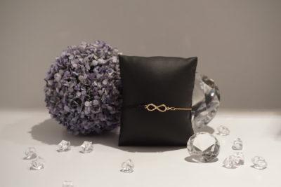 Armkette-Armband Kombi Infinity Rosègold