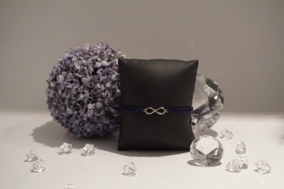 Armband Makramee Infinity silber