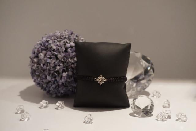Armband Makramee Blüte silber