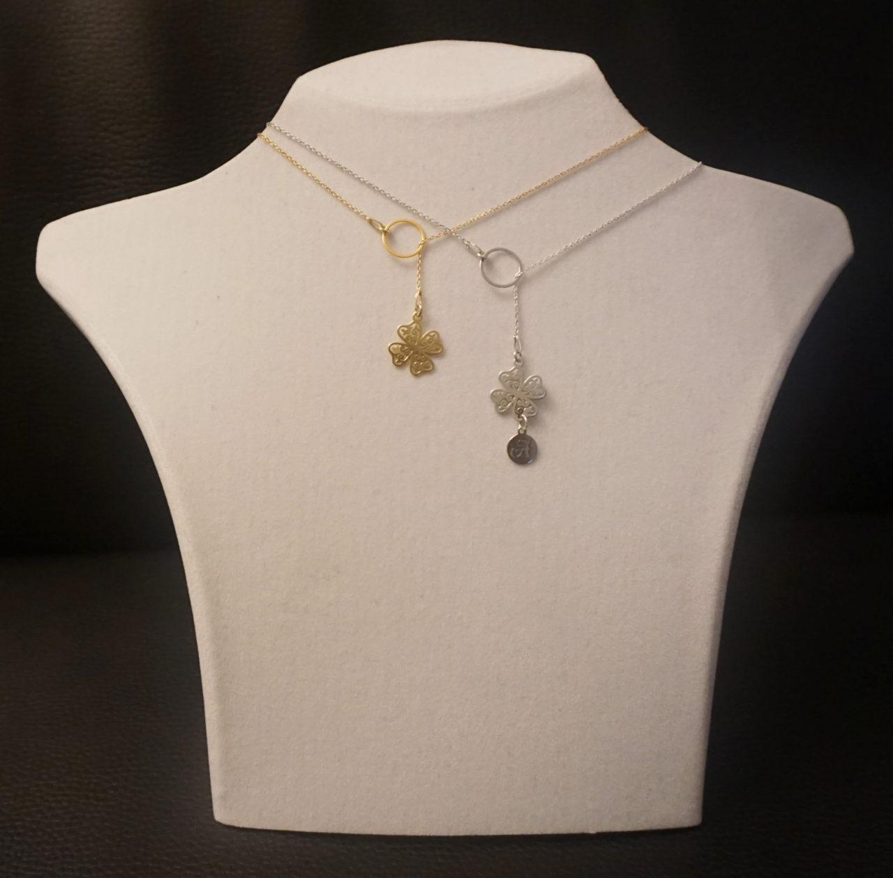 Halskette geteilt