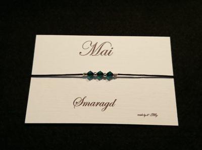 Geburtsstein Armband Smaragd