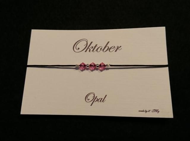 Geburtsstein Armband Oktober