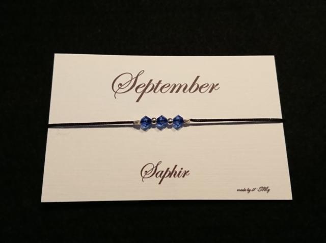 Geburtsstein Armband September