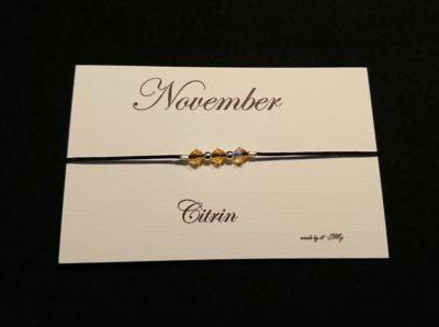 Geburtsstein Armband November