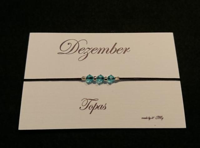 Geburtsstein Armband Dezember