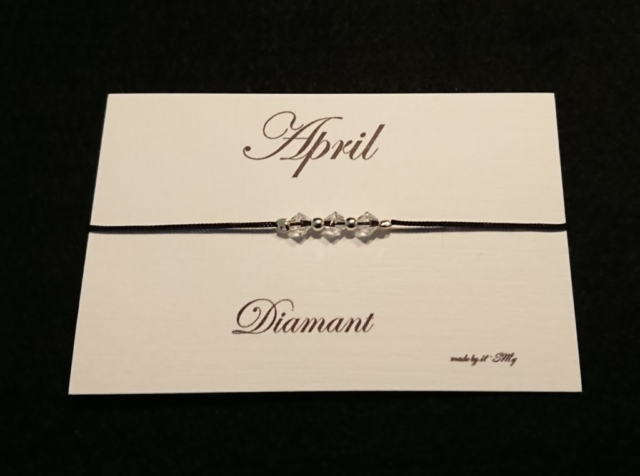 Geburtsstein Armband April
