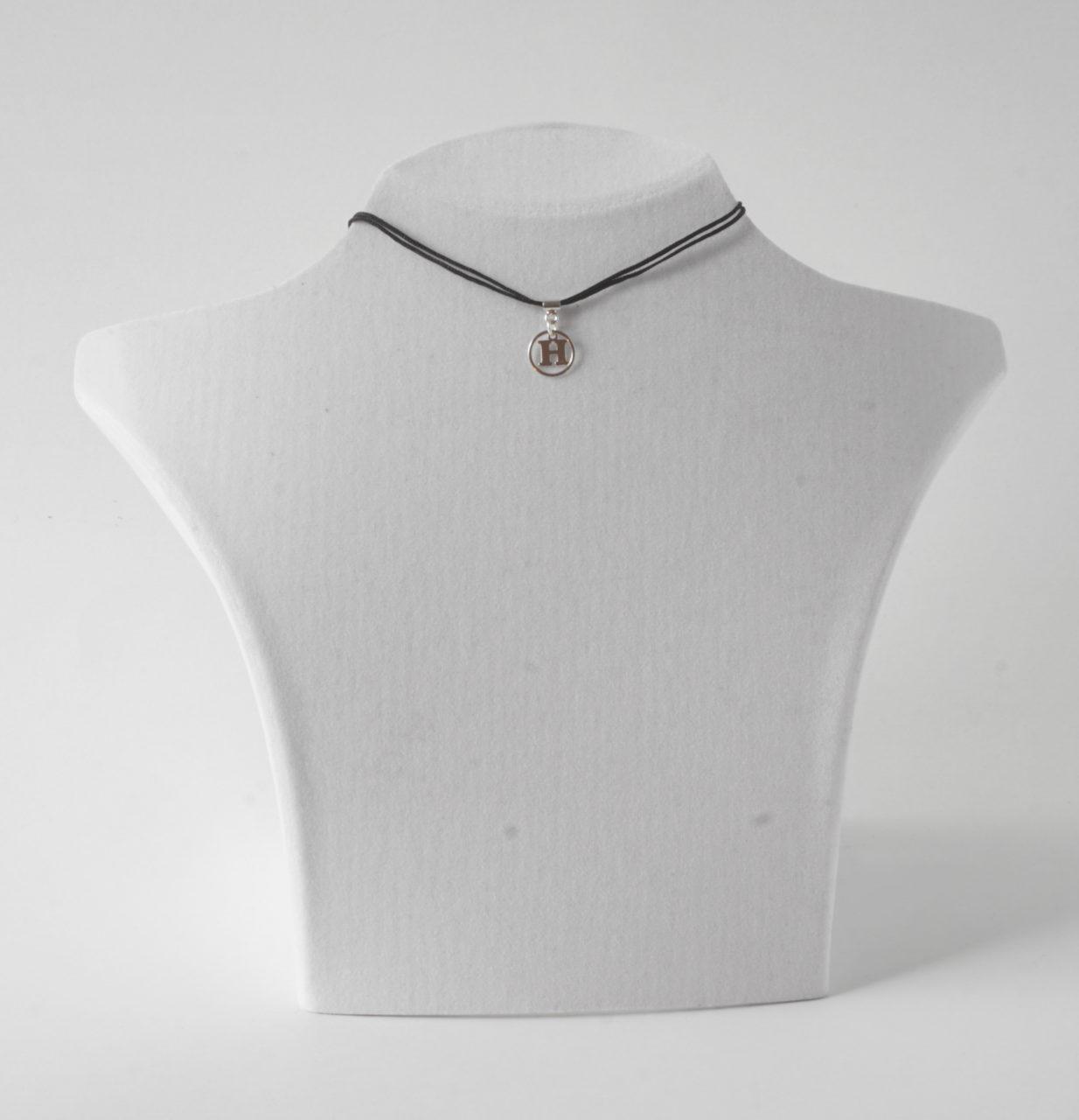 Buchstabenkette H Silber